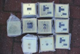 Assorted electrical sockets and fittings.