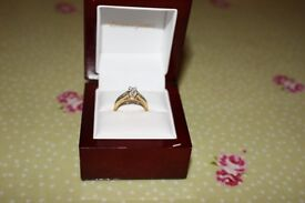 18 Carat Gold Diamond Engagement Ring