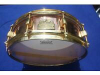 """Pearl Marvin """"Smitty"""" Smith Signature Copper Snare Drum 4x14"""" with gold plated fittings"""