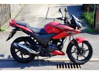 2013 Honda CBF125 Really Low Mileage only 2,300 Miles From New