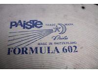 "Paiste Formula 602 22"" Heavy cymbal - W-rivet holes - Swiss - Vintage Blue label"