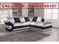 FREE & FAST DELIVERY - CRUSHED VELVET CORNER SOFA SUITE OR 3+2 SET £329