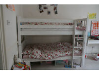 Details about Children's Seattle Wooden 3ft Bunk Bed Frame Ivory White Used