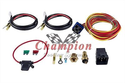 Champion Cooling 180 Degree 40amp Electric Fan Relay Kit, Single or Dual Fans -