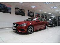 MERCEDES-BENZ E CLASS 2.1 E220 CDI AMG Sport 7G-Tronic Plus 4dr Auto (red) 2014