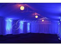 Marquee Hire, Venue Decor, Wedding Backdrops, Chair covers, Table coths