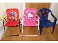 childrens kids toddler garden chairs spiderman hello kitty fireman sam summwer outdoor