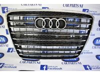 AUDI A8 RS8 2010 - 2013 FRONT GRILL 4E CHASIS SILVER BLACK