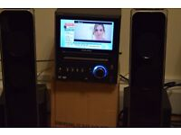 TV FREE VIEW BUILT IN 7 INCH/USB/RADIO/AUX IN WITH SPEAKERS PLAY IPOD PHONE MUSIC