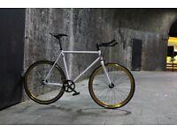 Christmas sale!!! Steel Frame Single speed road bike track bike fixed gear racing fixie bicycle y