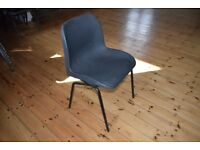 100 stacking chairs, plastic on metal tubular frame
