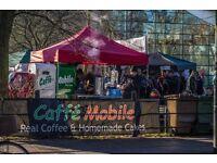 Caffe Mobile Seeks Friendly Barista/Cake Baker for Cambridge Market