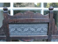 Slate and wood traditional Indian-style mirror from Pakistan