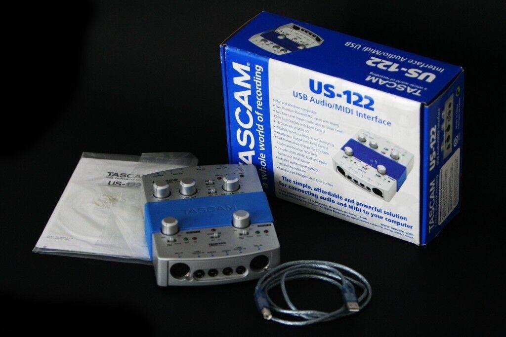 Tascam US-122 USB Audio/MIDI Interface in original box | in Carmarthen,  Carmarthenshire | Gumtree