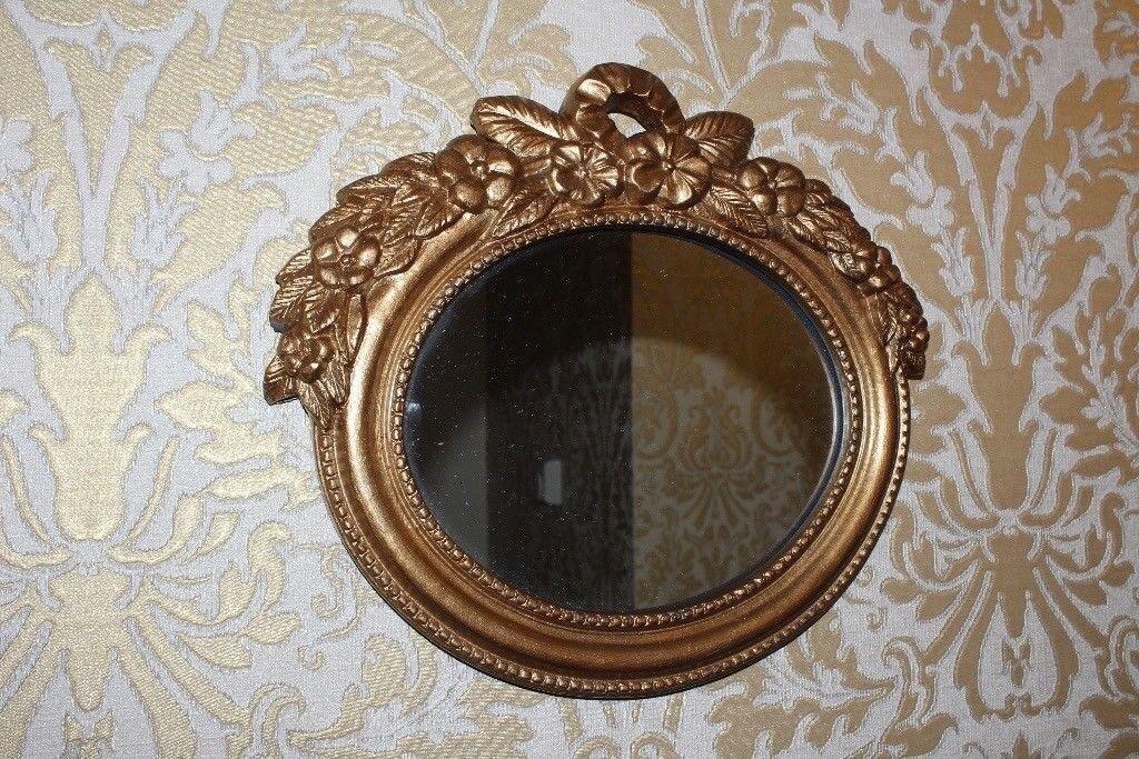 Vintage style resin gilt wall mirror