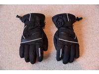Black Rossignol Mens Ski Gloves / New & Un-Used / Sz Medium