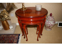 Woodstock yew reproduction lounge occasional tables