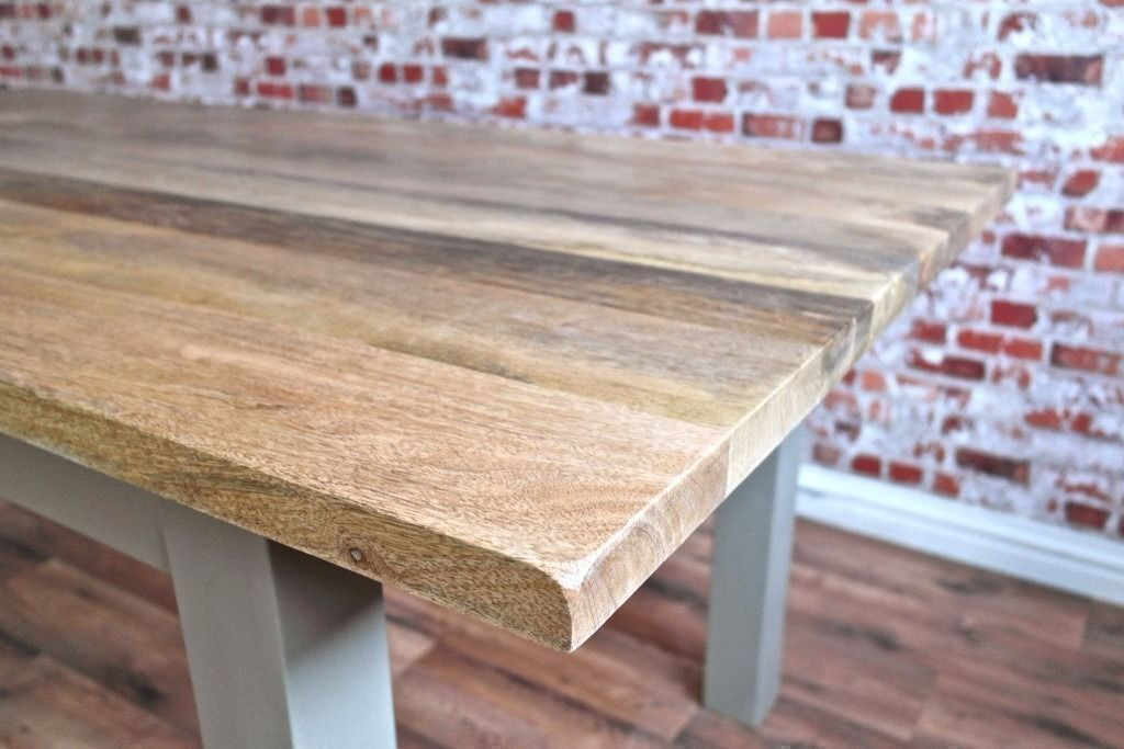 New Solid Hardwood Chunky Slab Rustic Dining Table