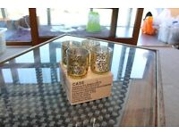 Beautiful glass mercury tea light holders and flickering tea lights