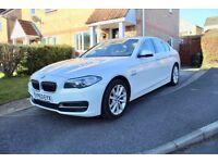 2014 BMW 520D AUTO ALPINE WHITE FULL BM HISTORY LEATHER SAT NAV