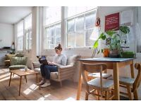 Available desks now at affordable and beautiful coworking space in E2 Bethnal Green