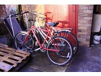2 Bikes for spares repairs - Red works fine if replaced the back tyre that's punctured