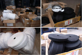 Details about CLEARANCE 110 Rolls of Hook & Tape JOB LOTS BLACK & WHITE ADHESIVE & SEW ON ROLL