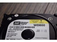 Western Digital WD Caviar 3.5 PC/computer IDE Hard Drive 80GB
