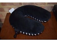 Travel Black and White Micro Pearl Neck Pillow