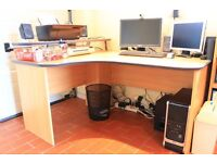 Home Office Furniture. Desk, Chair, Book Shelf, Cupboard and 3 Draw Filing Cabinet.
