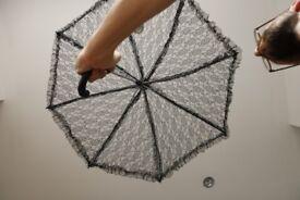 Black Lace umbrella / parasol. £ 6