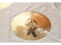 "Zildjian K Custom Session Cymbals, 20"" Ride, 16"" Crash - Bag included"