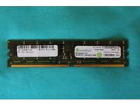 1 gb DDR2 PC2 - 5300 NONEEC DIMM by Rendition (2 available)