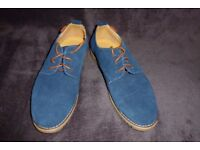 Men's Suede Leather Lace Up Shoes UK Size 5