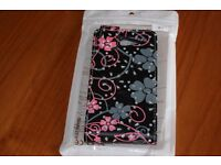 New black pink & grey sparkly mobile phone cover fits Sony experia M2