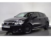 LEXUS CT 200H 1.8 200H F SPORT [LEATHER] 5d AUTO 136 BHP (black) 2013