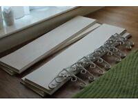 4 White Pine Shelf Board 90cm x 20cm and White Bracket