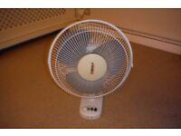 Fan 12 inch (30cm) electric desk fan.