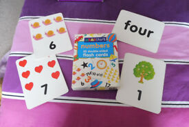learning number flash cards