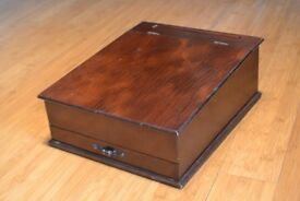 Portable mahogany writing desk with compartments