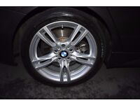 """BMW F30 18"""" 400M ALLOY WHEELS PRISTINE CONDITION WITH TPMS NEW TYRES"""