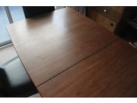 Large, extending dining table and 6 chairs
