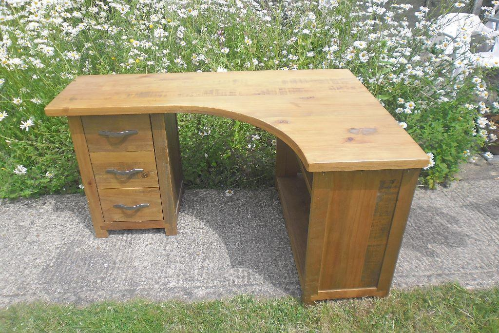 Next pine corner desk in sandy bedfordshire gumtree - Pine corner desks ...
