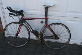 Full aero framed carbon TT Bike