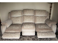 Double recliner sofa in cream/natural, NEW, £695. Absolutely beautiful! RRP over £1,200.