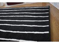 IKEA Black White Carpet / Rug
