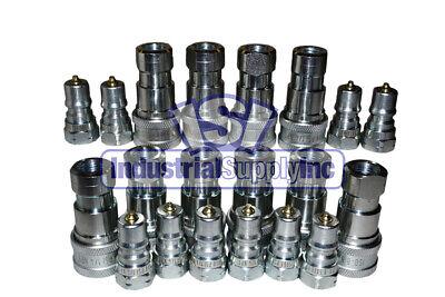 Quick Coupler Iso 7241-1 B 14 Npt Pipe Threads Complete Set 10 Pk
