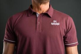 Another usual suspect classic polo shirt in oxblood email us for more details and website address