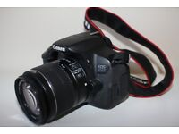 Canon 650d EOS digital camera with 18-55 mm lens
