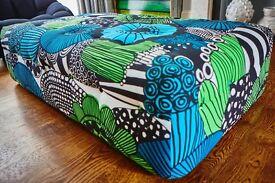 Bespoke ottoman/seat in Marimekko fabric - cost £2000 to be made